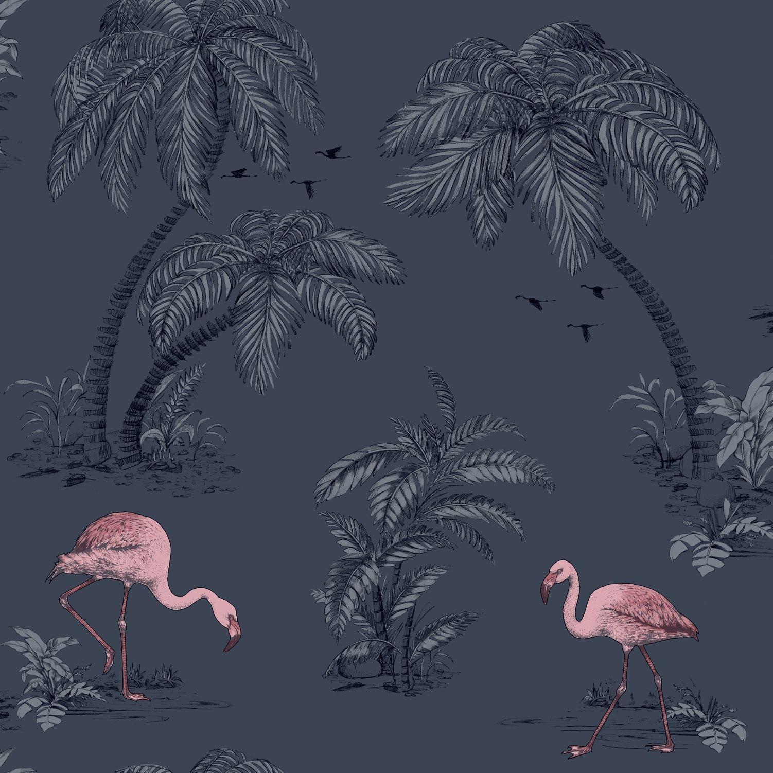 обои с фламинго для стен леруа мерлен или профили алюминия