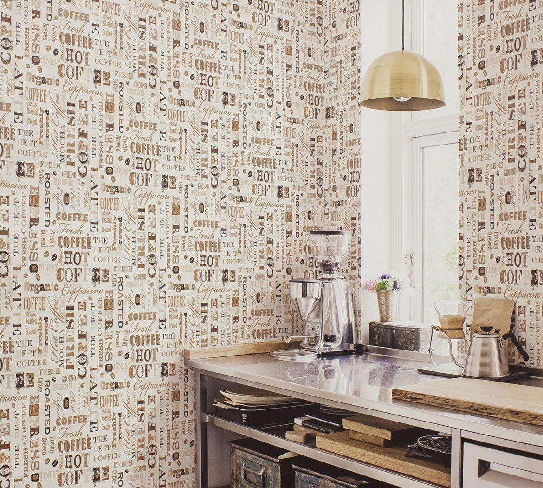 цвет обои в кухню дизайн простой фото после слияния испанских